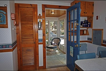 West Dennis Cape Cod vacation rental - Enclosed sun porch with washer & dryer