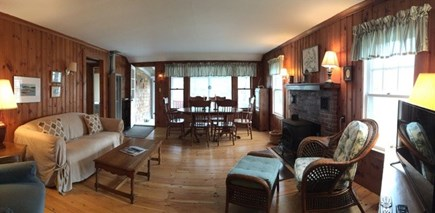 Wellfleet Cape Cod vacation rental - Open living/ dining room combo with cable tv & WiFi