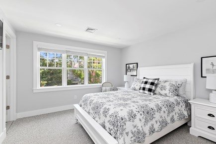 Dennis, Mayflower Beach Cape Cod vacation rental - Second Floor Bedroom #3 with Queen bed, TV & private half bath