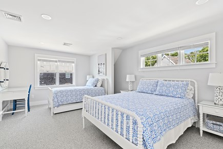 Dennis, Mayflower Beach Cape Cod vacation rental - Ocean View- Bedroom #2 with Queen bed, twin bed, trundle, and TV