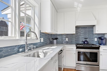 Dennis, Mayflower Beach Cape Cod vacation rental - Bright & Sunny open kitchen with large Island with 4 stools