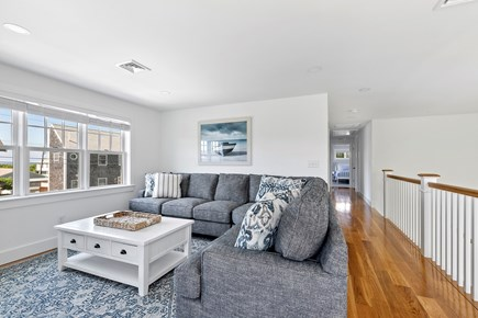 Dennis, Mayflower Beach Cape Cod vacation rental - Spacious upstairs Den with & TV Beautiful Ocean Views