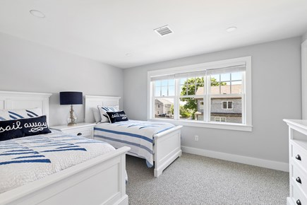 Dennis, Mayflower Beach Cape Cod vacation rental - Second Floor Bedroom #1 with twin beds,TV & Ocean view!