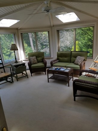 South Chatham Cape Cod vacation rental - The Garden Room With AC and an entertainment system