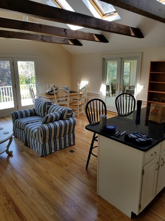 South Chatham Cape Cod vacation rental - The Great Room and Kitchen Island