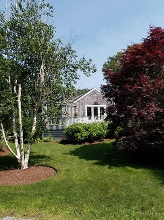 South Chatham Cape Cod vacation rental - Landscaped to perfection to enjoy on the sunny deck