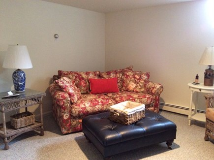 Eastham Cape Cod vacation rental - Lower level family room with TV and game table.
