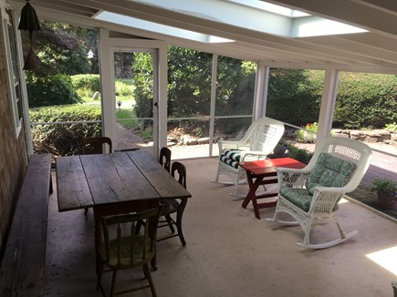 Orleans Cape Cod vacation rental - Screened sun porch with outdoor seating