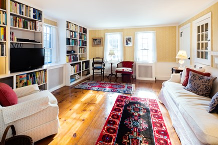 Orleans Cape Cod vacation rental - Parlor room with flat screen TV and extensive library