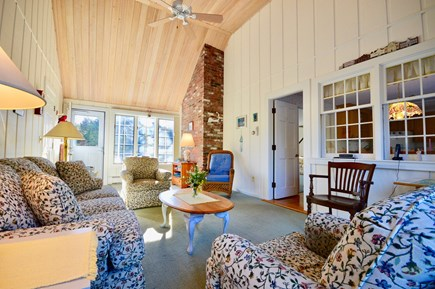 Orleans Cape Cod vacation rental - Sunny breezeway with comfortable seating and AC