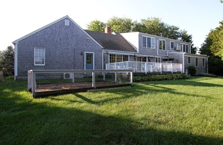 Orleans Cape Cod vacation rental - Large yard and back deck, fully enclosed outdoor shower