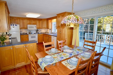 Orleans Cape Cod vacation rental - Eat-in kitchen with access to the back deck