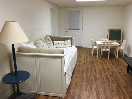 Wellfleet Cape Cod vacation rental - Family Room with daybed and TV, children's toys