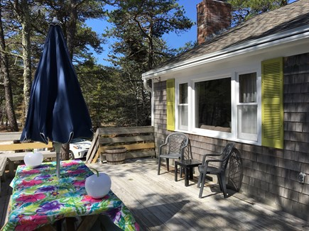 Wellfleet Cape Cod vacation rental - Deck with picnic table