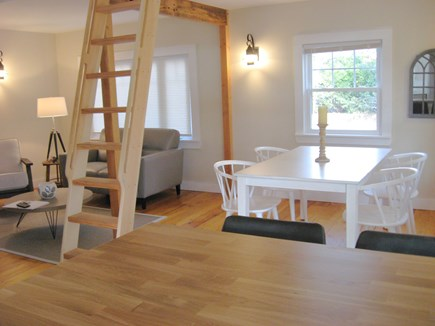 Eastham Cape Cod vacation rental - Look from kitchen toward dining and living area