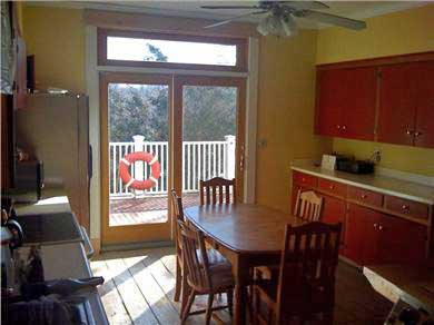 Woods Hole, Falmouth Woods Hole vacation rental - Kitchen opens out to deck