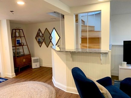 West Hyannisport Cape Cod vacation rental - Lower level family room with TV