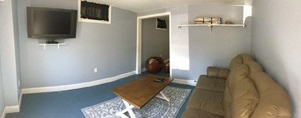 Falmouth Cape Cod vacation rental - TV room in basement