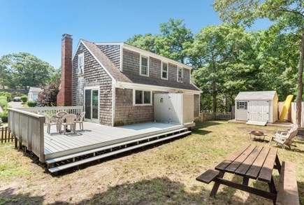 Falmouth Cape Cod vacation rental - Large back deck, grill, outdoor shower, fire pit