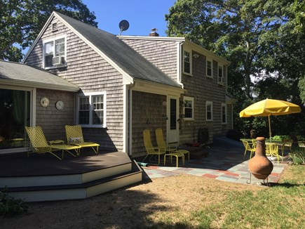 Falmouth Cape Cod vacation rental - Back yard Deck and Patio