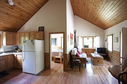 Provincetown Cape Cod vacation rental - Open plan living, dining, and kitchen area.