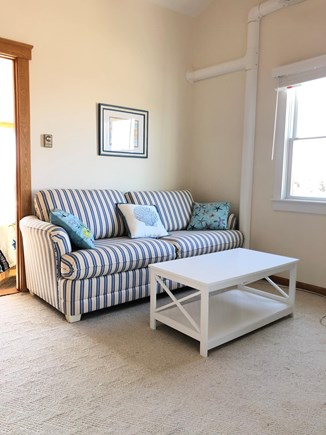 Chatham  Cape Cod vacation rental - Loft area with queen sleeper sofa and flat screen tv.