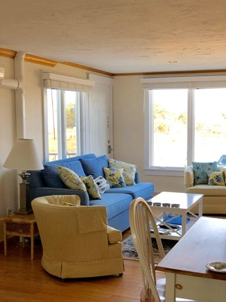 Chatham  Cape Cod vacation rental - Comfortable Living Room with views to the water.