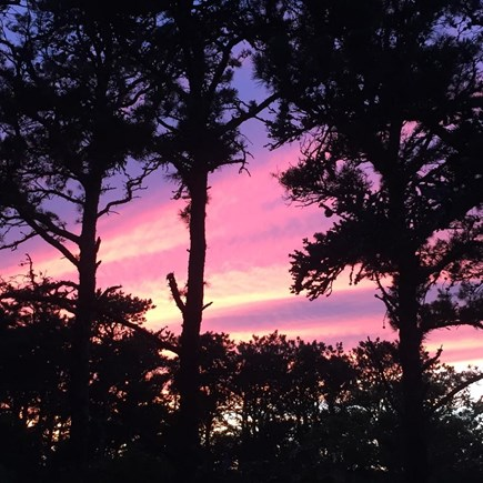 Wellfleet Cape Cod vacation rental - Sunset from deck!