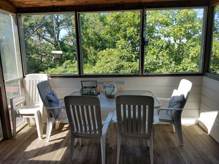 Wellfleet Cape Cod vacation rental - Dining on the screened in porch