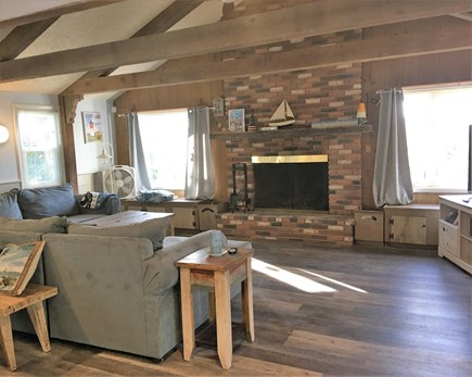 Yarmouth Cape Cod vacation rental - Spacious great room with fireplace