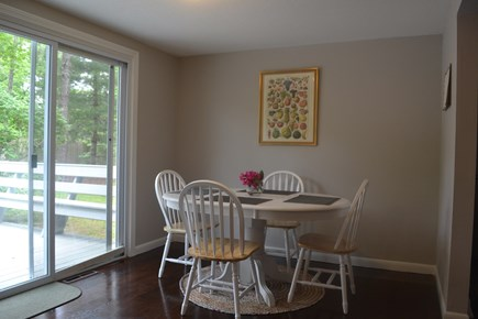 Centerville Centerville vacation rental - Dining table with sliders to the back deck and yard