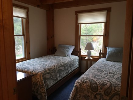 Truro Cape Cod vacation rental - Cozy 1st floor bedroom with 2 twins.
