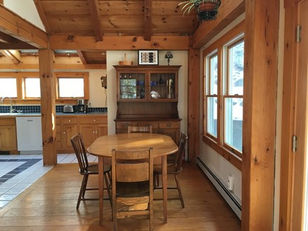 Truro Cape Cod vacation rental - Spacious dining area open to kitchen and living room.