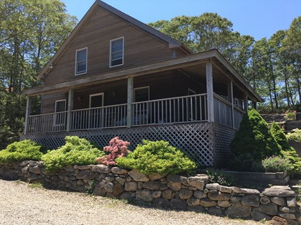 Truro Cape Cod vacation rental - Front of house provides a nice covered porch.