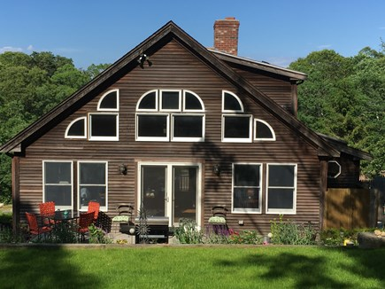 Truro Cape Cod vacation rental - Wall of windows from the back yard.