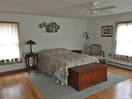 Eastham Cape Cod vacation rental - Large master bedroom with ceiling fan and queen sized bed