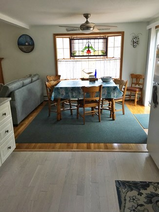 Eastham Cape Cod vacation rental - Dining room leads out to outdoor sliders