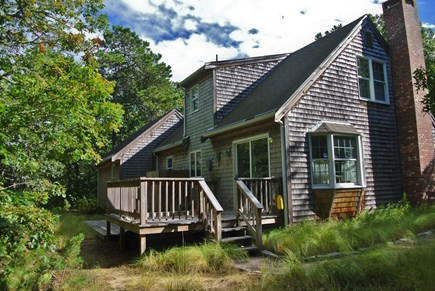 Eastham Cape Cod vacation rental - Have your breakfast while listening to the birds on back porch