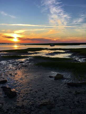 Eastham Cape Cod vacation rental - The best part of the day is catching the sunset at the bayside