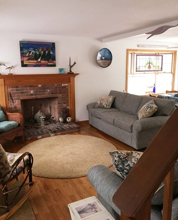 Eastham Cape Cod vacation rental - Living room with comfy couches for kicking back or reading a book