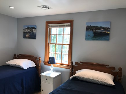 New Seabury / Popponesset New Seabury vacation rental - 2 twin beds, closet,  dresser, 2 windows facing back & side yard