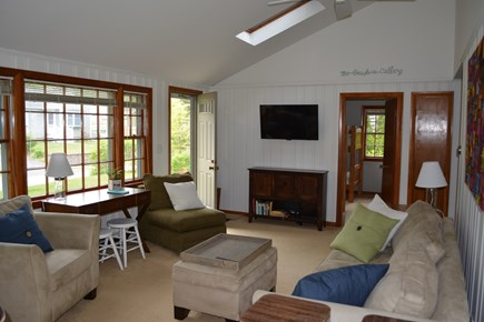 New Seabury / Popponesset New Seabury vacation rental - Living room, w flat screen TV, cable, WiFi, sky lights & fan