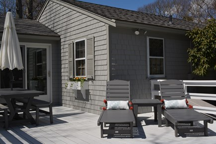 New Seabury / Popponesset New Seabury vacation rental - Deck with lounge chairs and outdoor dining
