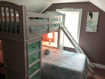 West Dennis Cape Cod vacation rental - Second level bunk beds