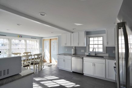 Falmouth Cape Cod vacation rental - Kitchen with dining table for 6 people.