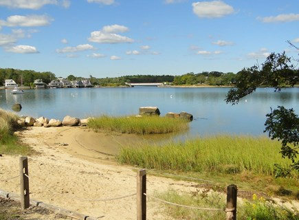 Onset, Buzzards Bay MA vacation rental - Walk down to bottom of yard for private beach area