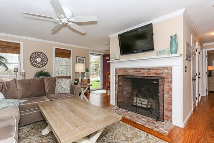 West Yarmouth Cape Cod vacation rental - Living Room with large sectional and plenty of seating.