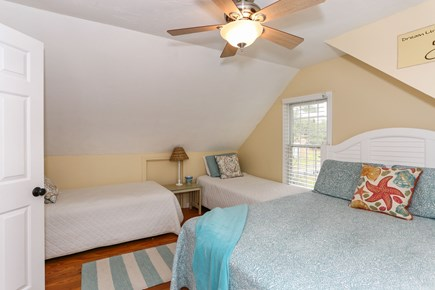 West Yarmouth Cape Cod vacation rental - 2nd Bedroom on Second Floor - One double sized bed and two twins!