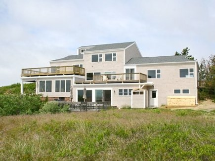 Truro Cape Cod vacation rental - Waterside spacious decks.