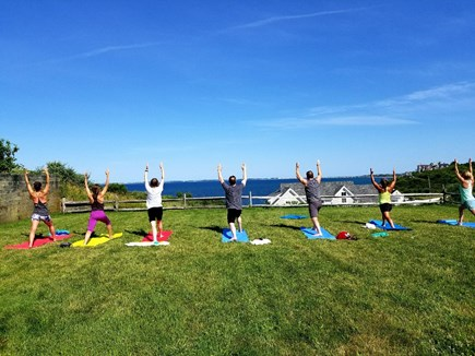 Truro Cape Cod vacation rental - Ocean side yoga.